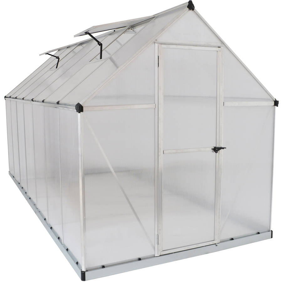 Palram Mythos Hobby Greenhouse, 6' x 14', Silver by Greenhouses