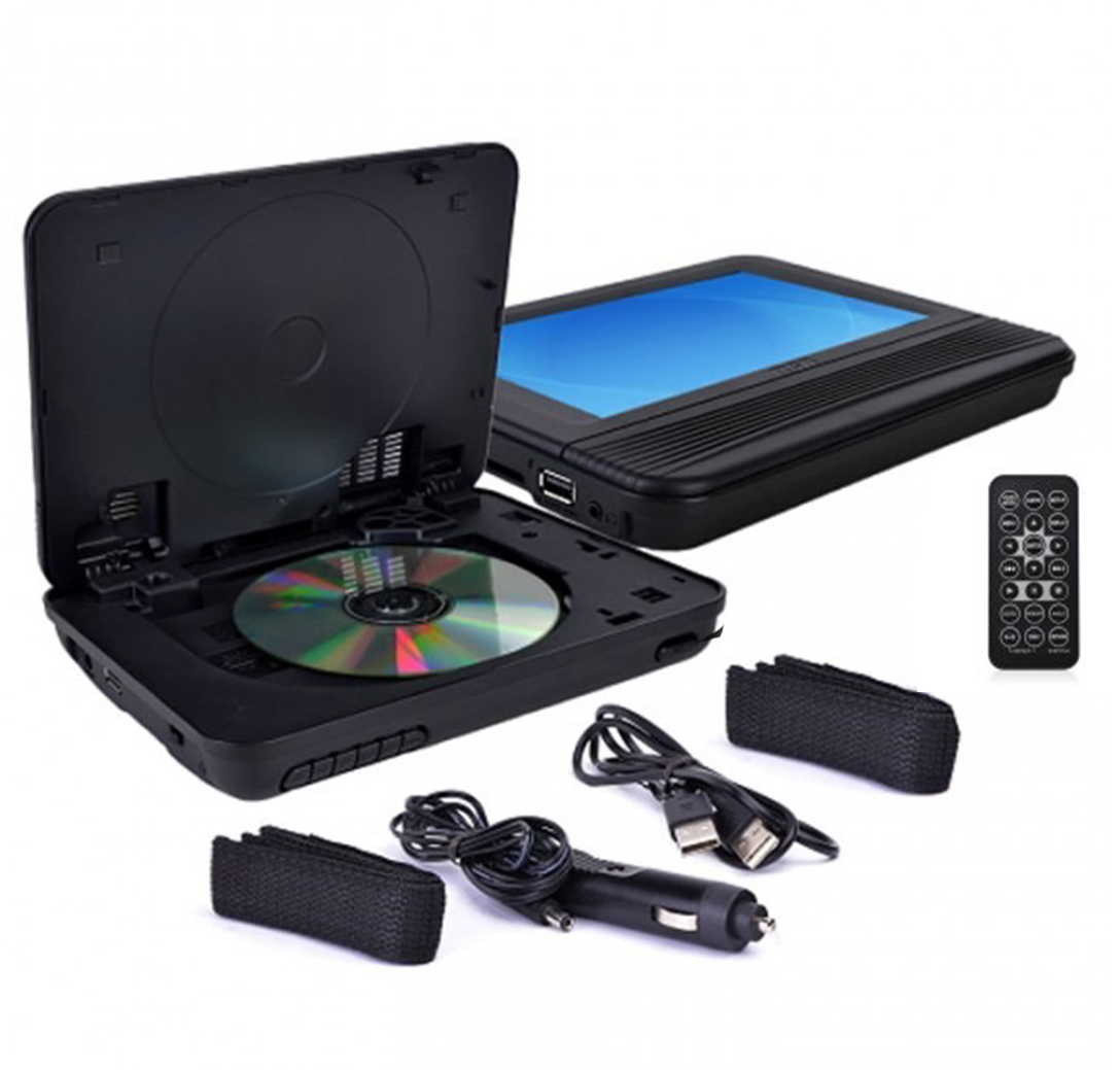 """RCA 7"""" DRC69705E22 Widescreen Portable DVD Player System w/Two LCD Screens - Black (Refurbished)"""