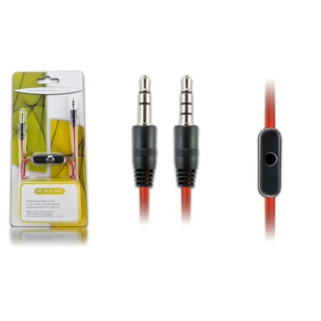 Cellular Accents Auxiliary Cable with Microphone