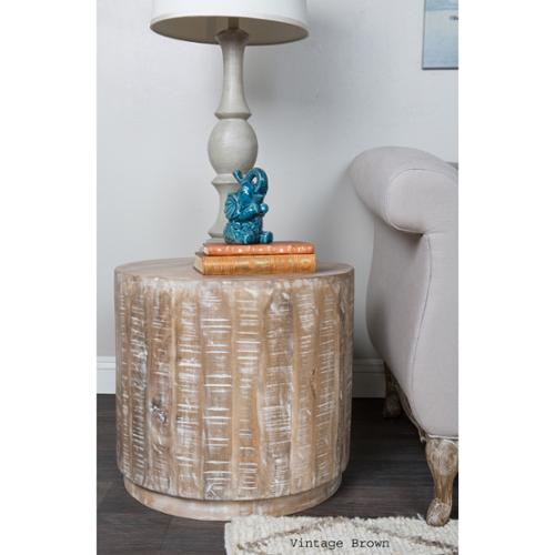 Kosas Collections Kosas Home Cannie Patina Mango Wood End Table