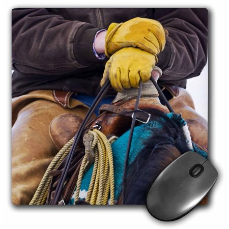 3dRose Cowboy saddles, boots, Hideout Ranch, Wyoming - US51 JRE0017 - Joe Restuccia III, Mouse Pad, 8 by 8 inches