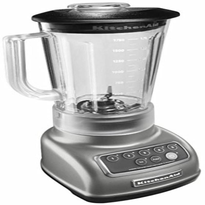 KitchenAid 5-Speed Blender RRKSB1570SL, 56-Ounce, Silver (Certified Refurbished)