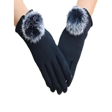 Huppin's Women Villus Winter Super Warm Gloves Cashmere