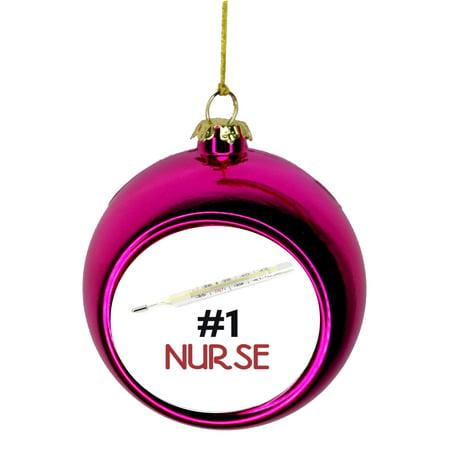 Number One Nurse - #1 Nurse Appreciation Gift Bauble ...