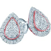 Gold and Diamonds EF8015-W 0.18CT-DIA MICRO-PAVE EARRING      - Size 7