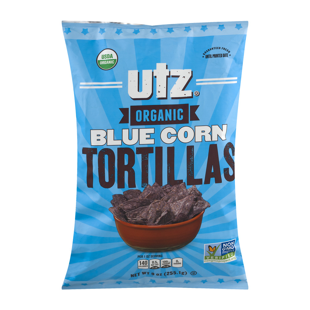 Utz Organic Blue Corn Tortillas, 9.0 OZ