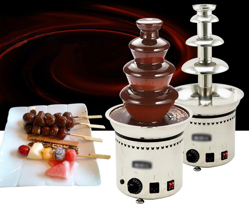 "4 Tiers Chocolate Fountain Fondue Stainless Steel 23"" High by"