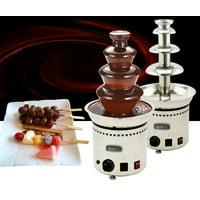 "4 Tiers Chocolate Fountain Fondue Stainless Steel 23"" High"