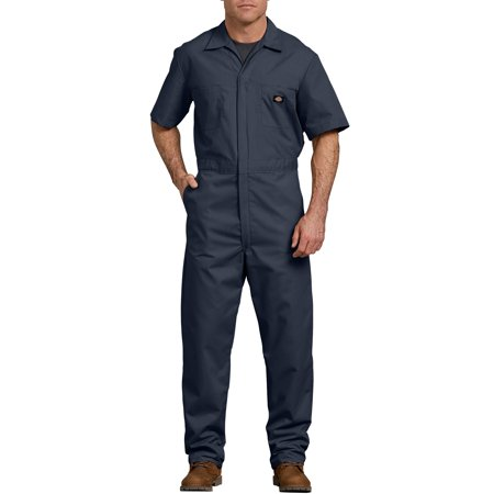 Men's Short Sleeve Deluxe Poplin Coverall ()
