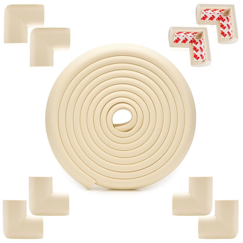 Baby Proofing White Corner Guards Kit, Extra Dense Childproof Furniture Protectors, Free Home Baby Proofing... by COKO