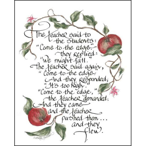 LPG Greetings Life Lines Teacher by Lori Voskuil-Dutter Graphic Art Plaque