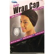 Dream Satin Wrap Cap Black (Pack of 12) #0146 (Pack of 3)