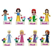 Fairy Tales Snow White/mermaid/jasmine Princess Minifigure Building Block Model Action Figure Toys Compatible with building blocks