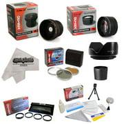 Kodak EasyShare Z650 Z740 Z710 Kit Includes 0.20X Fisheye lens, 5 PC Close-Up Set , 2.2x HD AF Telephoto Lens, 3 Piece Pro Filter Kit , Tube Adapter, Deluxe Cleaning Kit, Mini Tripod