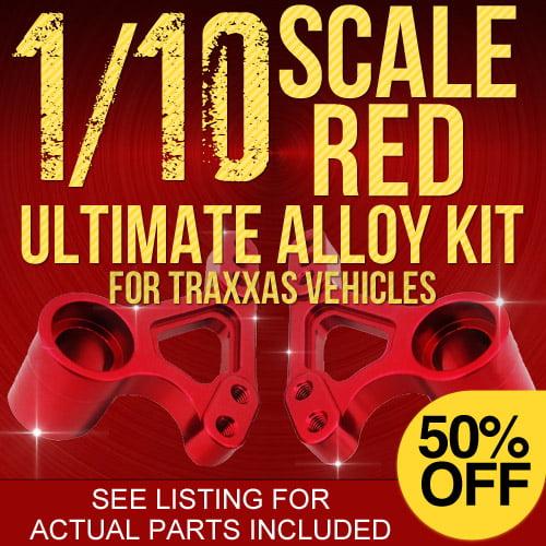 Traxxas Rustler Ultimate RC Alloy Kit - Red