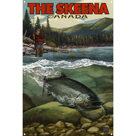 The Skeena River Salmon Run, British Columbia Canada Metal Art Print by Paul A. Lanquist (12