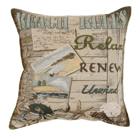 Set Of 40 Cape Cod Beach Rules Square Decorative Tapestry Throw Unique Cape Cod Decorative Pillows