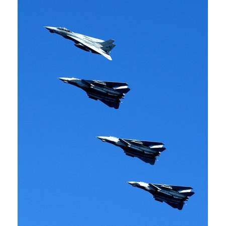 LAMINATED POSTER F-14D Tomcats, assigned to the Tomcatters of Fighter Squadron Thirty One (VF-31), fly over the dec Poster Print 24 x 36 (Thirty One Order Tracking)