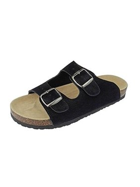 56360688e6fd Product Image Outwoods Women's Bork 46 Black Nubuck Double Buckle Birk  Style Slide On Sandal Size: 11