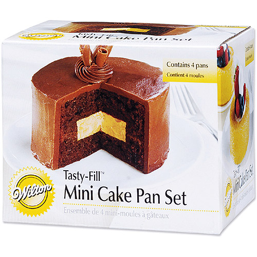 "Wilton Tasty-Fill"" 4""x1.25"" Mini Cake Pan Set, Round 4 ct. 2105-155"