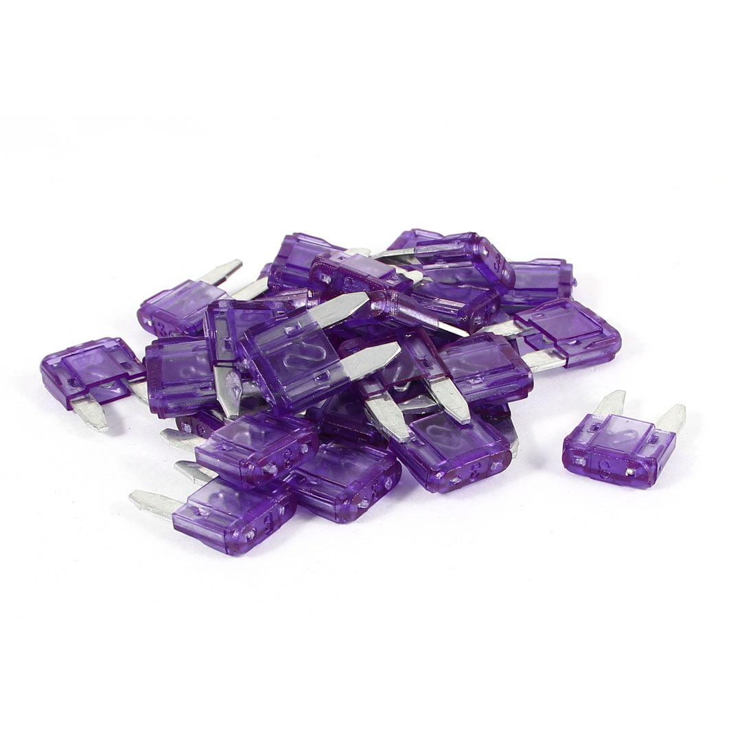 30 Pieces Motorcycle Car Auto ATC ATO   Fuse Purple 3A