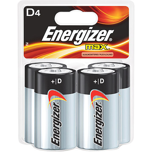 Energizer Max D Cell Batteries, 4 Pack