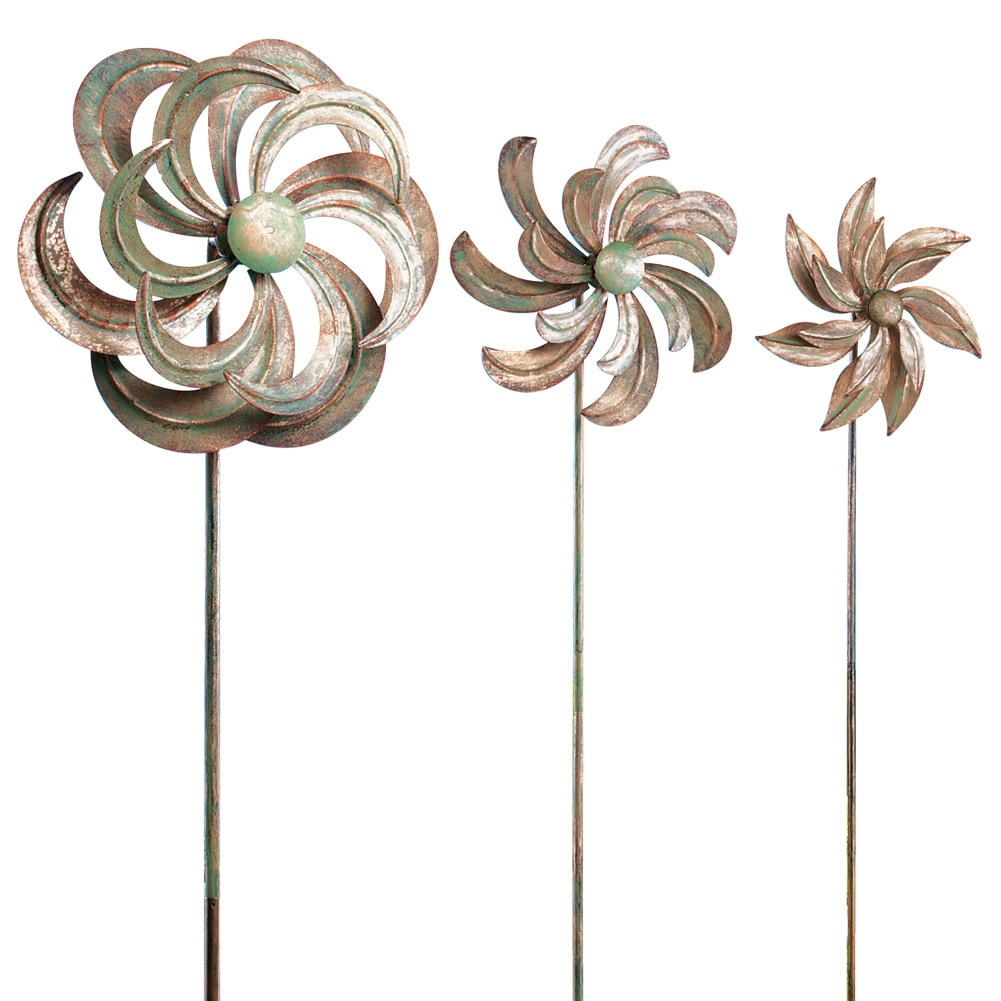 Garden Wind Spinners Set of 3, Beige by Collections Etc