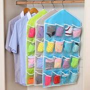 16 Pocket Closet Over Door Wall Hanging Organizer Storage Bag