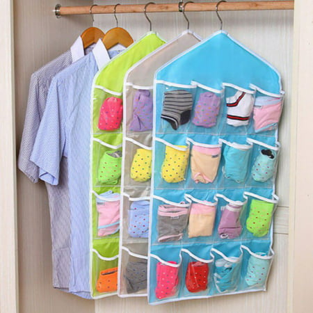 16 Pocket Closet Over Door Wall Hanging Organizer Storage Bag - Overdoor Cap Organizer