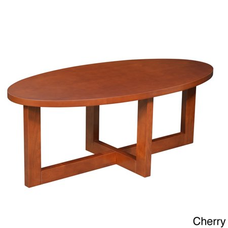 Regency seating oval 18 inch high wood coffee table for Coffee tables 18 inches wide