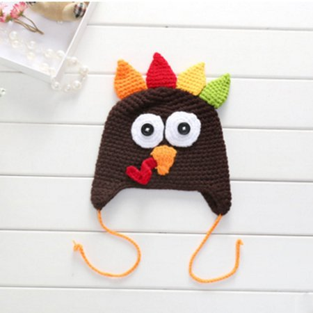 808f37c397d MDM PARTY - Baby   Toddlers Thanksgiving Turkey Beanie Hat Cap Cute ...