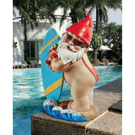 Design Toscano The Shredder Surfer Dude Gnome Statue ()