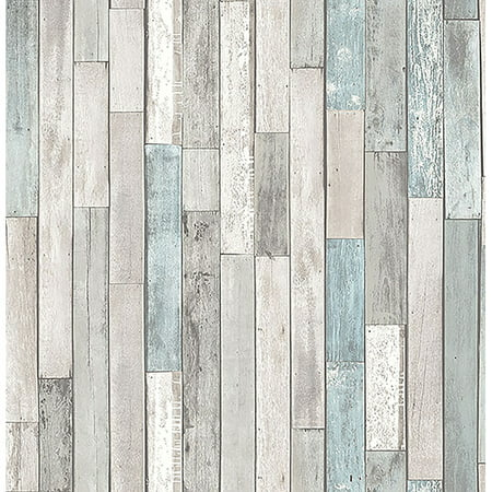 Barn Board Grey Thin Plank Wallpaper for $<!---->
