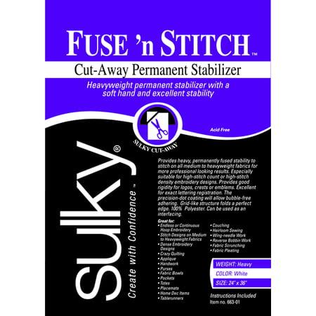 Fuse N Stitch Cut Away Permanent Stabilizer 24  X 36