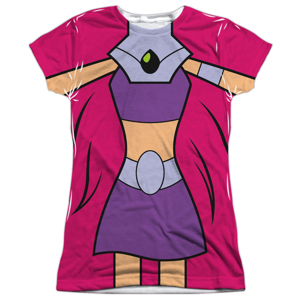 Teen Titans Go Starfire Uniform Juniors Sublimation Shirt