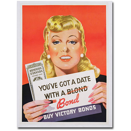 "Trademark Art ""You've got a Date with a Bond"" Canvas Wall Art"