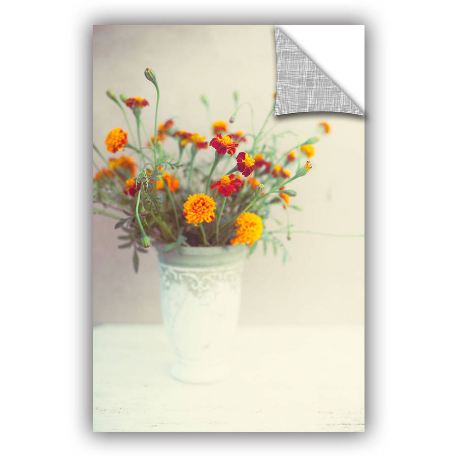 "ArtWall Elena Ray ""Flowers Classical Vase"" Art Appeals Removable Wall Art"