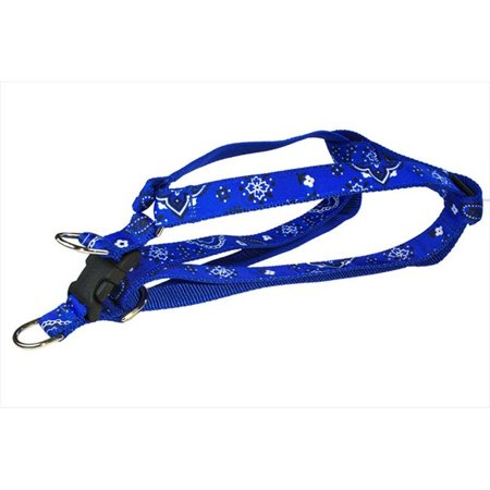 Sassy Dog Wear BANDANA BLUE4 H Bandana Dog Harness Blue Large