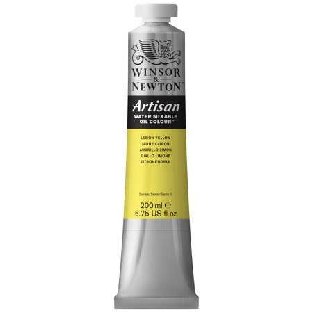 Winsor & Newton Artisan Water Mixable Oil Colours, 200ml Tube, Lemon Yellow