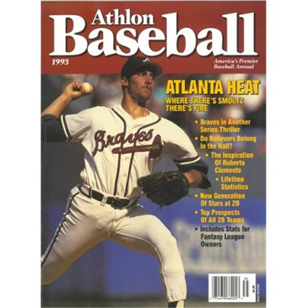 Athlon Ctbl 013247 John Smoltz Unsigned Atlanta Braves Sports 1993 Mlb Baseball Preview Magazine