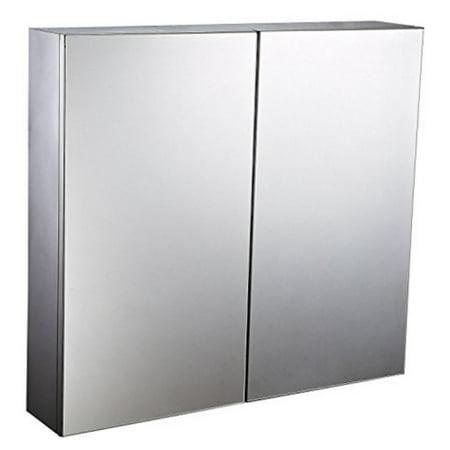Homcom 22 In Stainless Steel Double Door Wall Mount Mirror Medicine