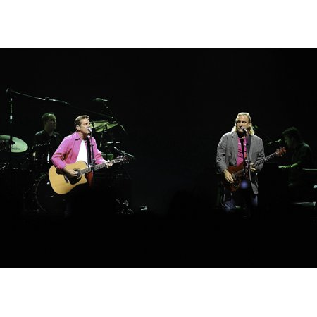 The Eagles performing on stage at the Atlantic Pavilion in Lisbon Photo Print