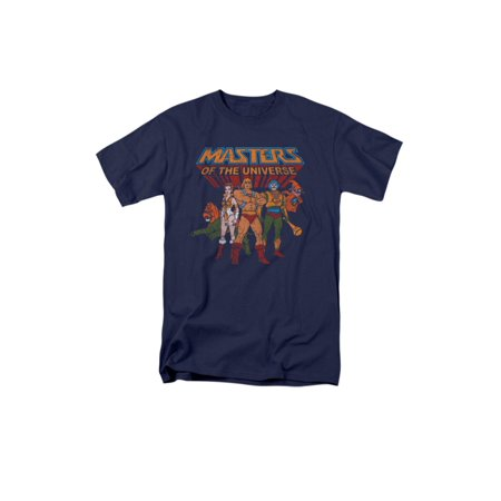 Masters Of The Universe Animated TV Series Hero Characters Adult T-Shirt ()