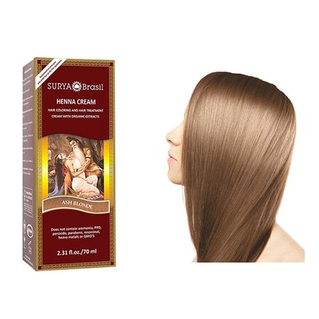 Henna Ash Blonde Cream Surya Nature, Inc 2.31 oz Cream
