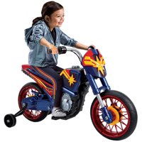Marvel Captain Marvel 6V Battery-Powered Motorcycle Ride-On Toy by Huffy