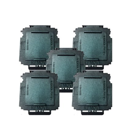 25 Pack Protective Socket CPU Cover for 1156 / 1155 Intel