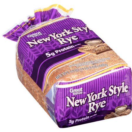 Great Value New York Style Rye Bread, 24 oz