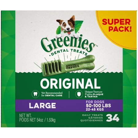 Homemade Dog Treats For Halloween (Greenies Original Large Natural Dental Dog Treats, 54 oz. Pack (34)