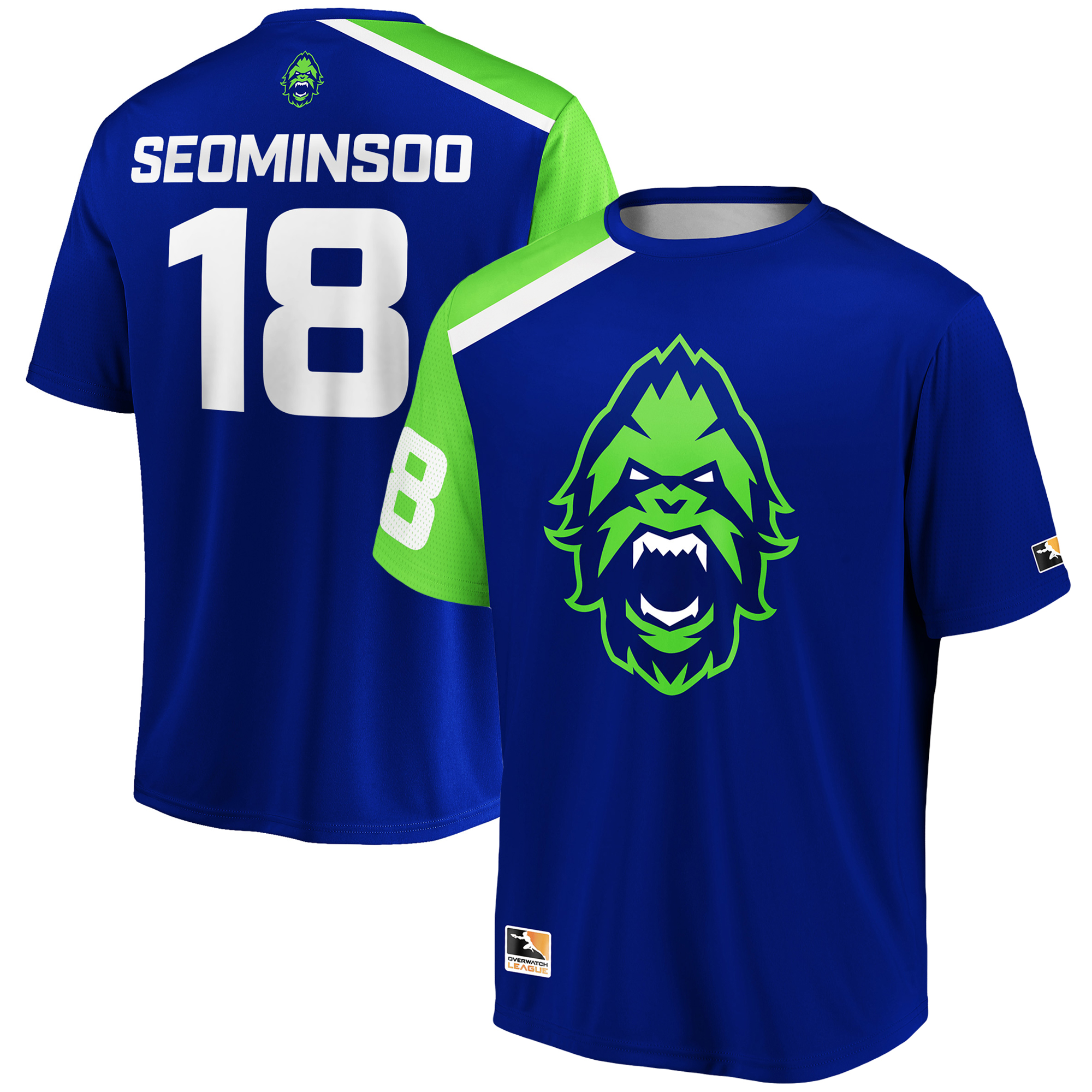 SeoMinSoo Vancouver Titans Overwatch League Replica Home Jersey - Blue