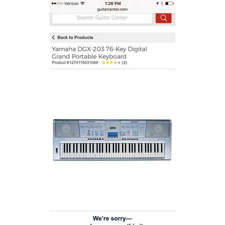 Yamaha DGX-203 Portable Grand Electronic Keyboard/Piano